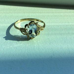 ♥️NEW! Elegant white topaz in 10k solid gold!♥️
